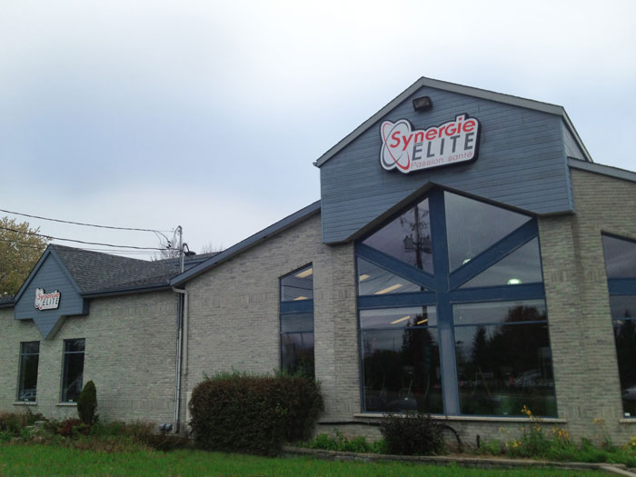 synergie elite gym chambly exterieur